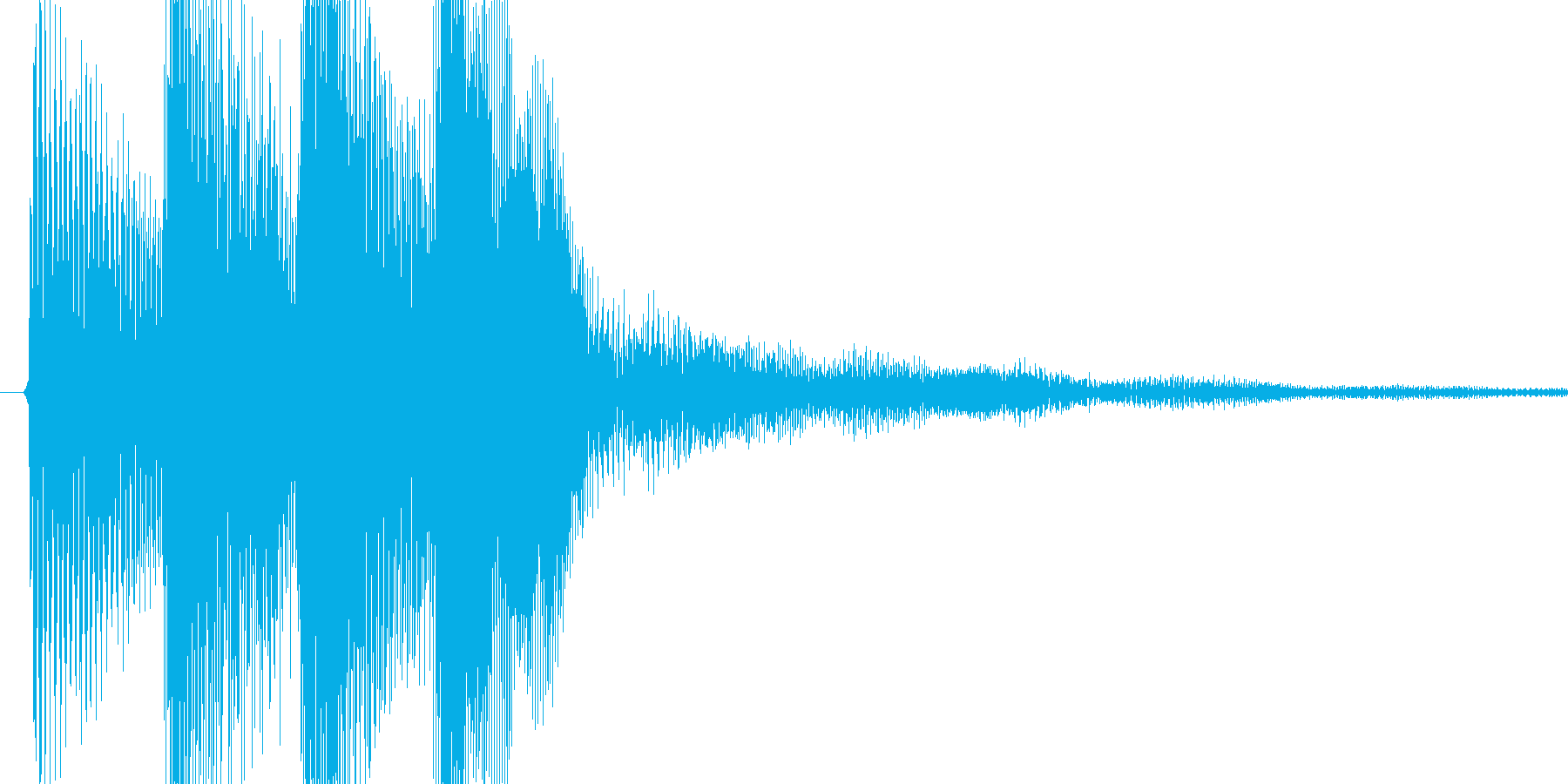 和音のピロリロっというSEの再生済みの波形