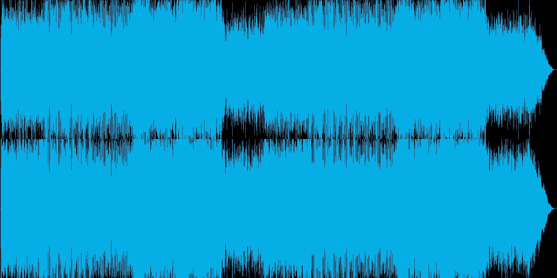 緊迫感があるオーケストラの再生済みの波形