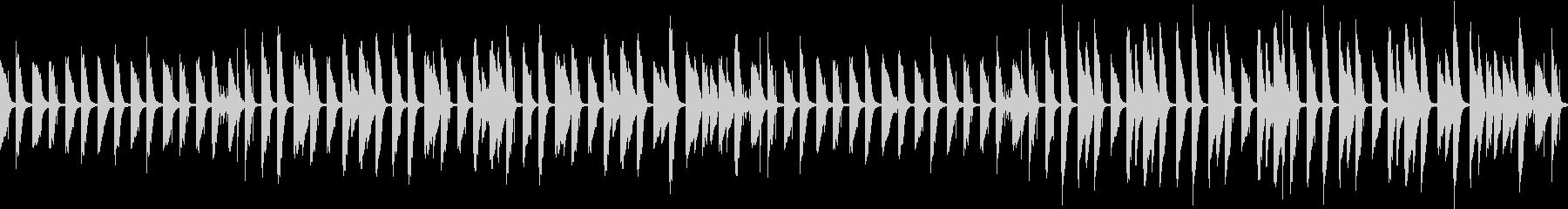 ゆるいピアノのほのぼのBGM(ループ)の未再生の波形
