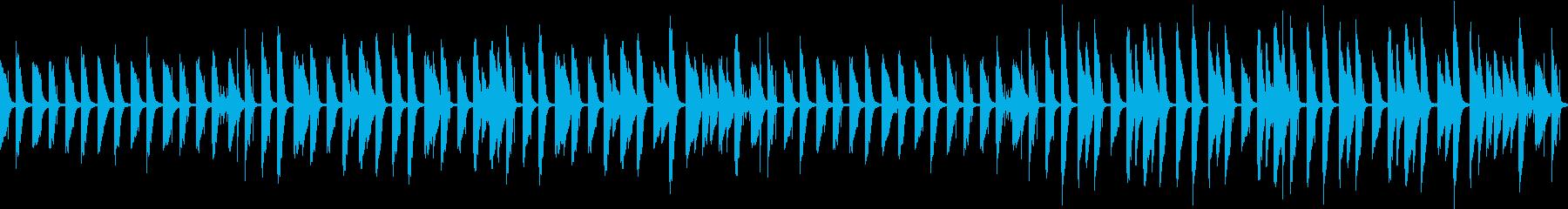 ゆるいピアノのほのぼのBGM(ループ)の再生済みの波形