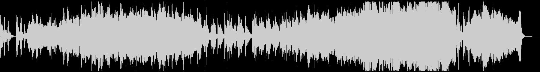 オーケストラとピアノの感動的なBGMの未再生の波形