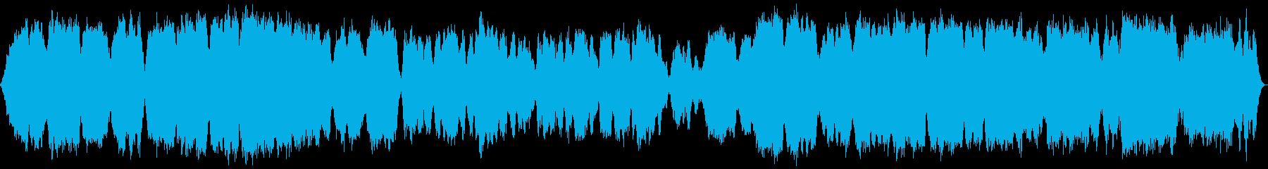 テルミン多重録音による音源ですの再生済みの波形