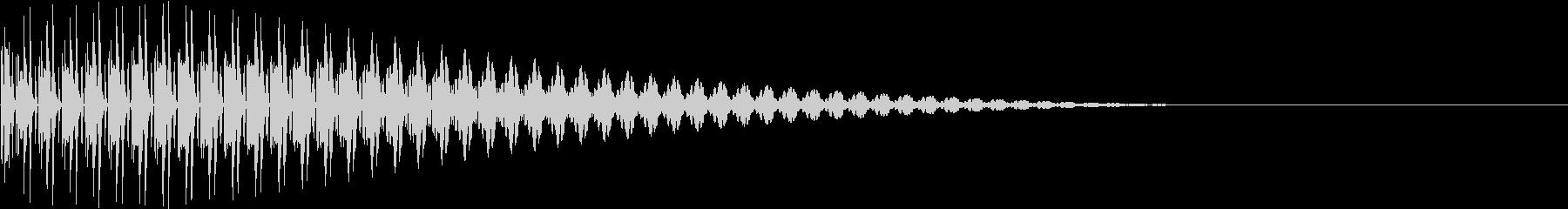BOTAN テクノな決定ボタン 3の未再生の波形