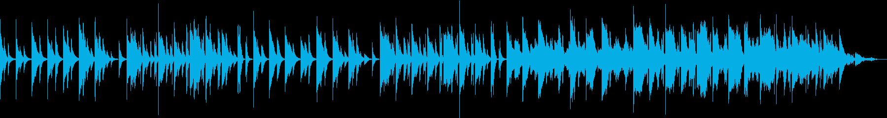 やさしい演奏とカスタネット、鈴が鳴るの再生済みの波形