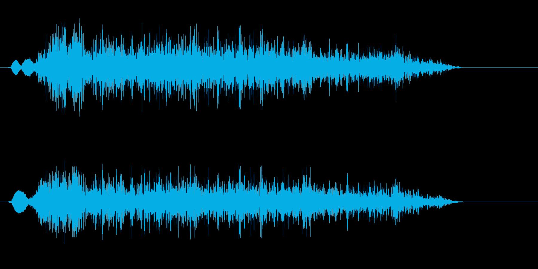 チーン!(勢いよく鼻をかむ音)の再生済みの波形