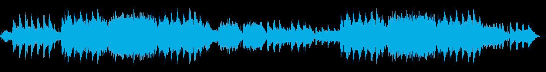 悲しく叙情詩的な背景音楽の再生済みの波形