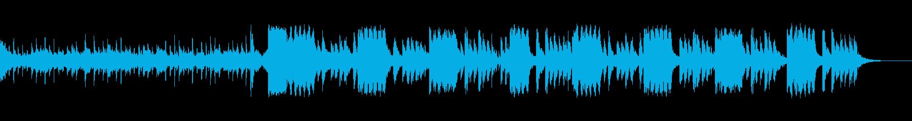少し眠気が残る朝を感じる曲の再生済みの波形