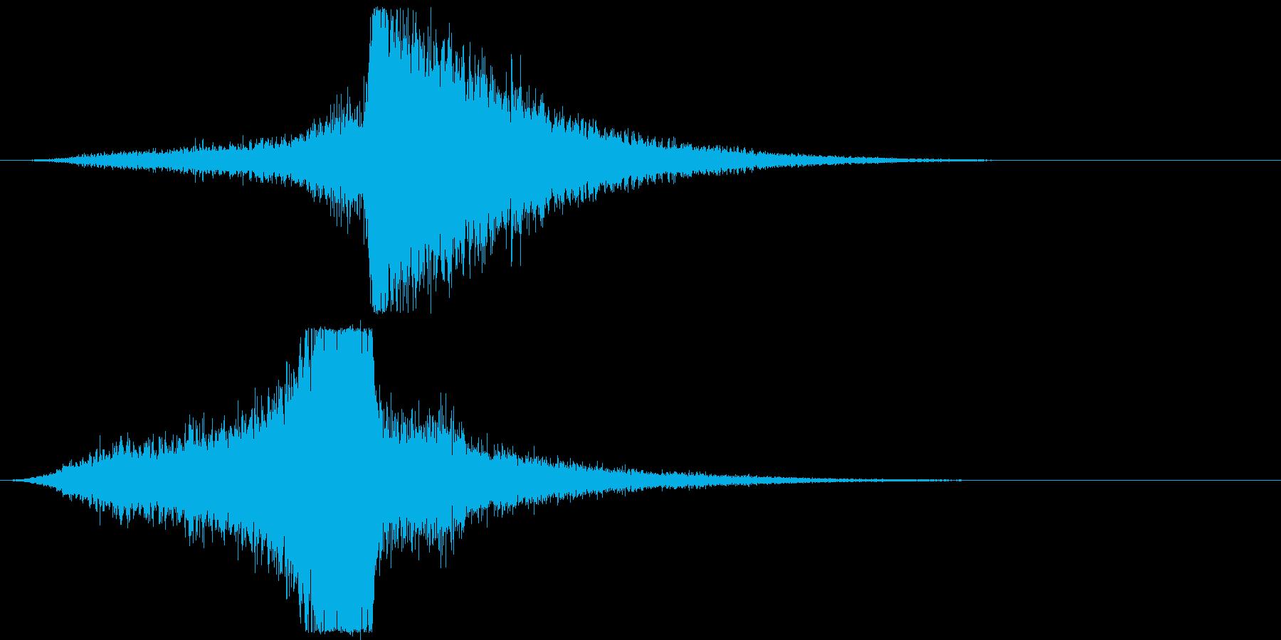 宇宙船・飛翔体#3通過 右〜左ゆっくりの再生済みの波形