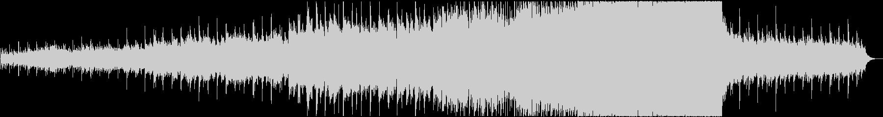 シンセサイザーやピアノを使用、感動的な曲の未再生の波形