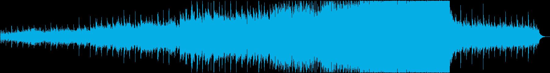 シンセサイザーやピアノを使用、感動的な曲の再生済みの波形