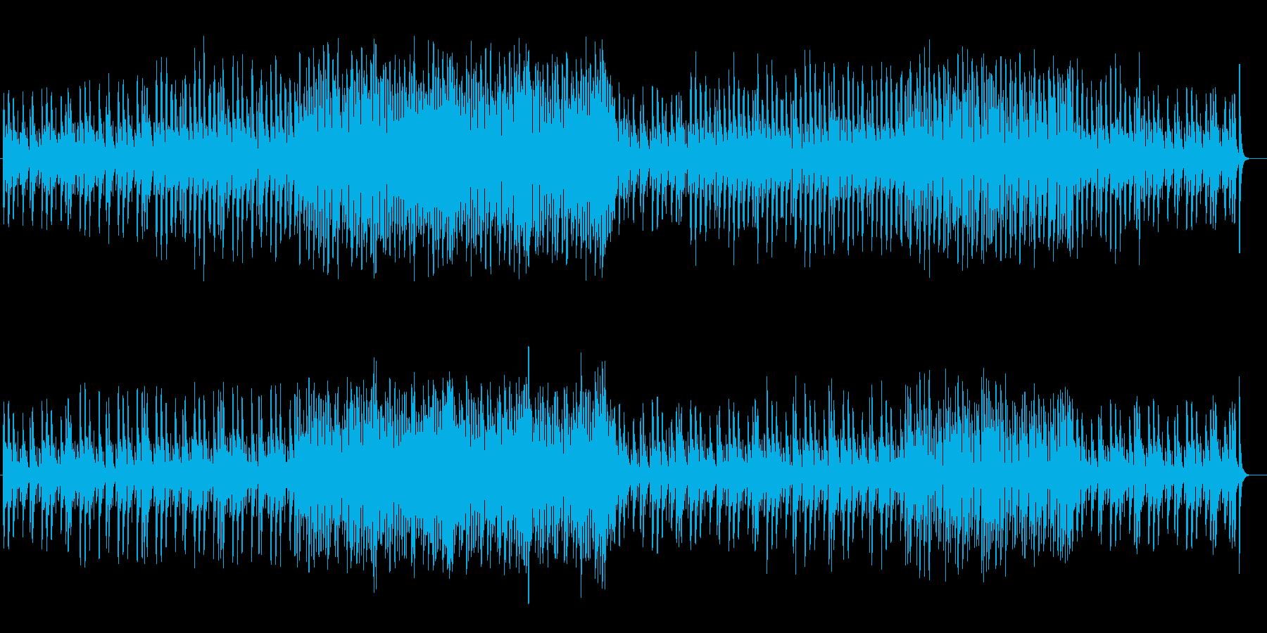 可愛らしく弾む木琴シンセサイザー曲の再生済みの波形