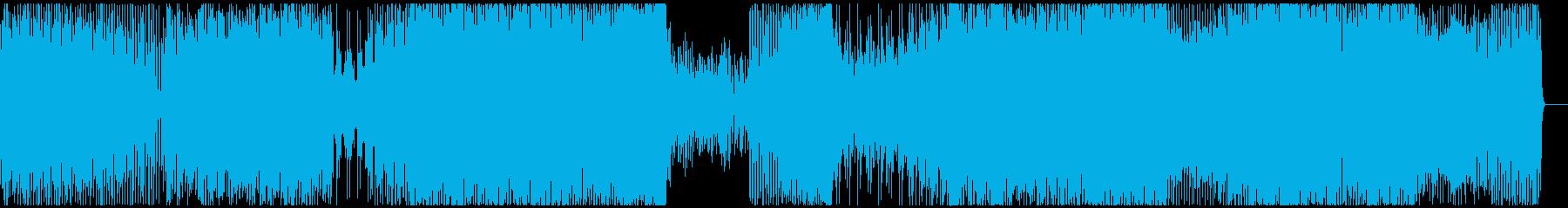 SF映画風の重厚なテクノ楽曲(インスト)の再生済みの波形