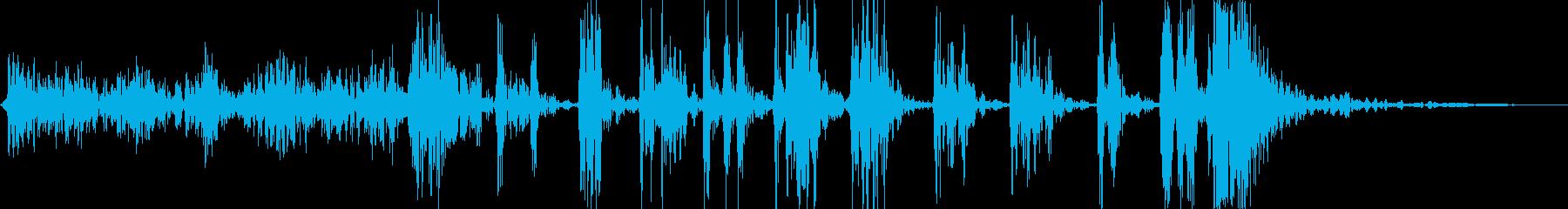 ゴム風船が軋み割れる音_グググ…パンッ!の再生済みの波形