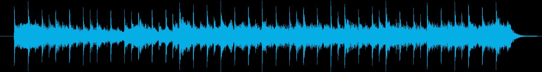 ミステリーbgmの再生済みの波形