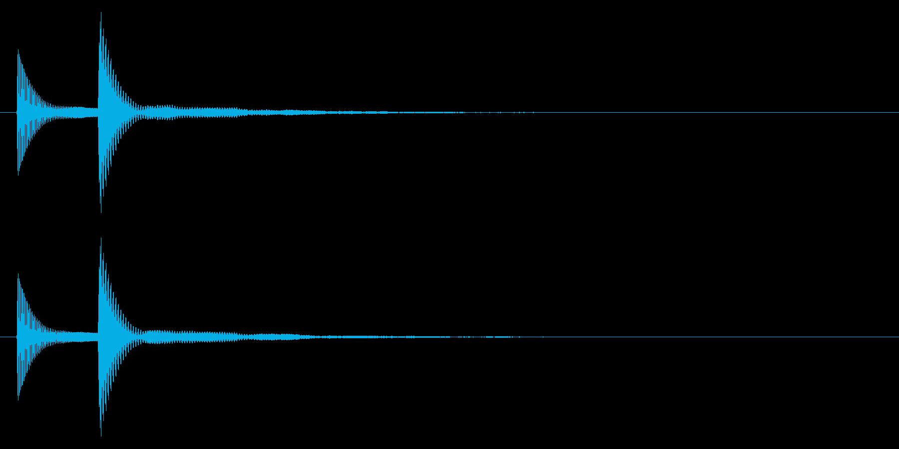 ピコッ↓/木琴/かわいいの再生済みの波形