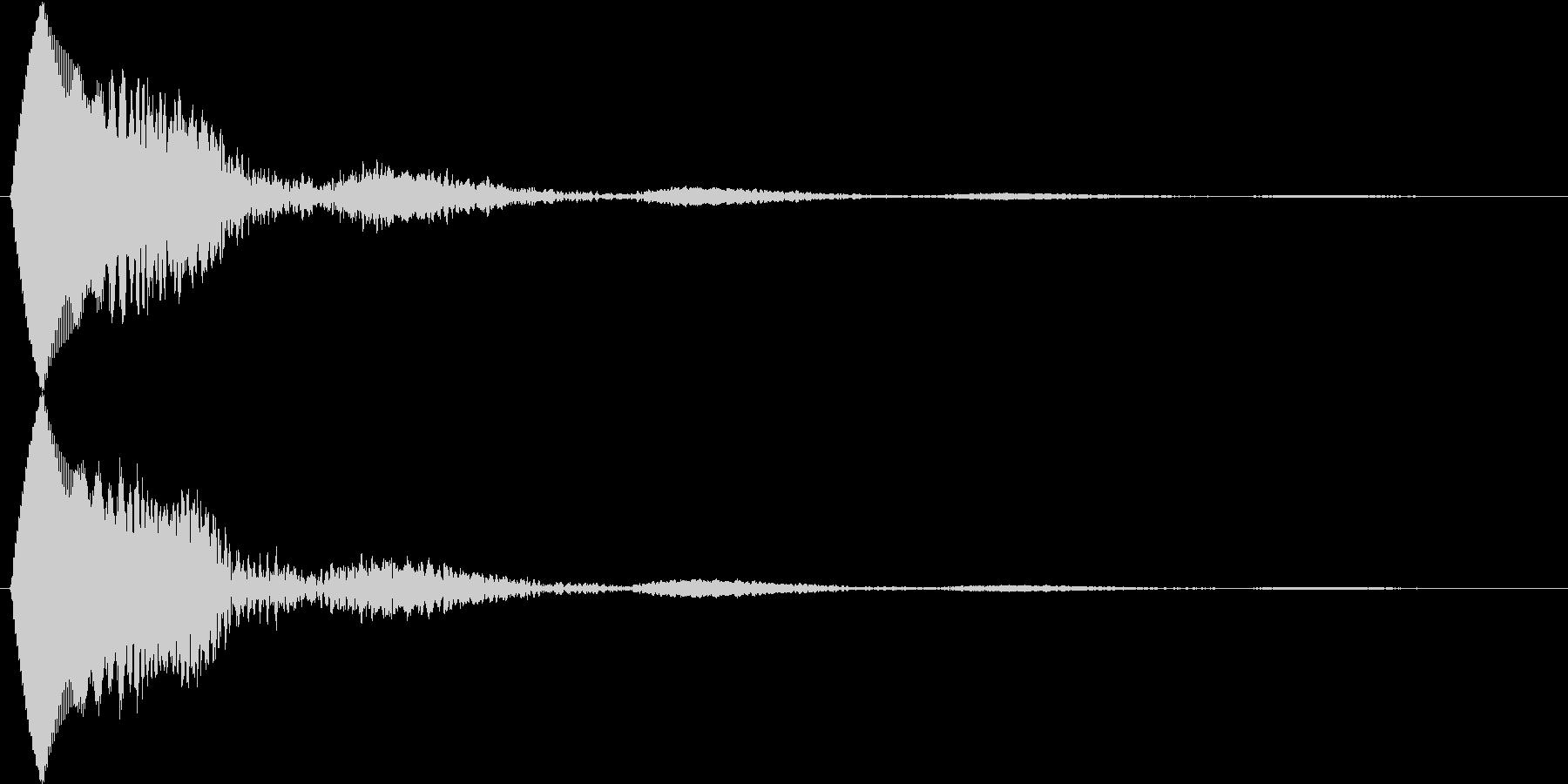 決定音 タッチやポップアップ、カーソル等の未再生の波形