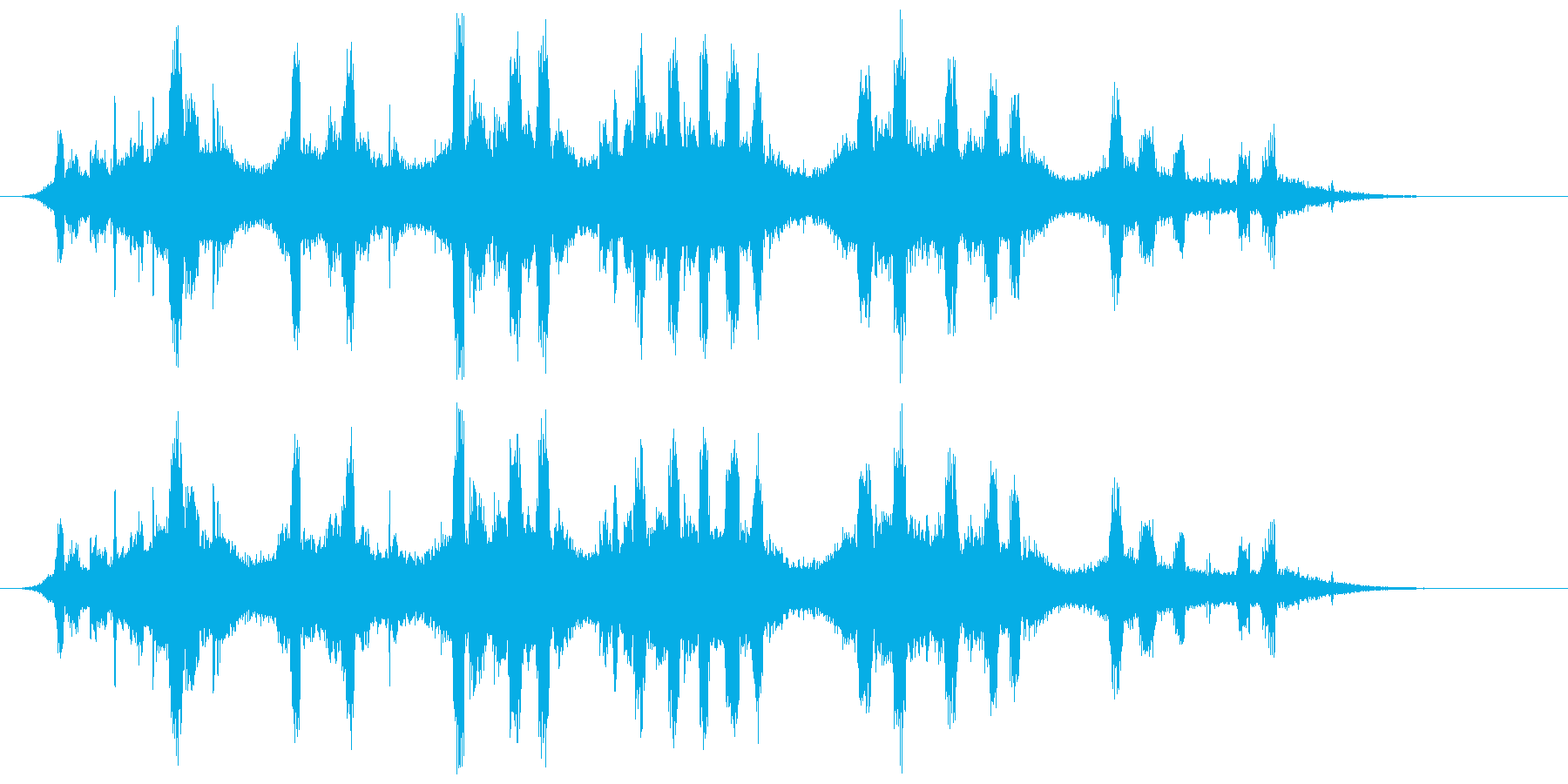 悪の聖歌、ささやき、逆リバーブ、ホ...の再生済みの波形