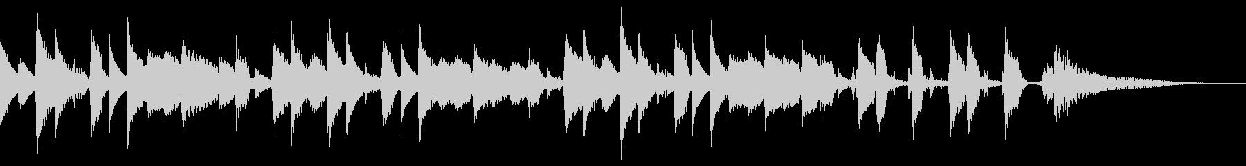 【ジングル/15秒】ほのぼのボサノバの未再生の波形