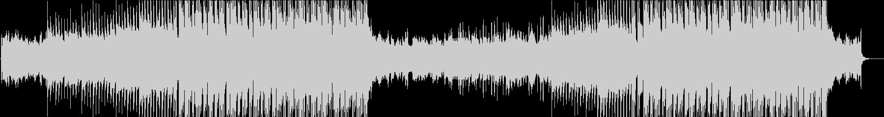 上昇するギターロック、EDM的シンセ展開の未再生の波形