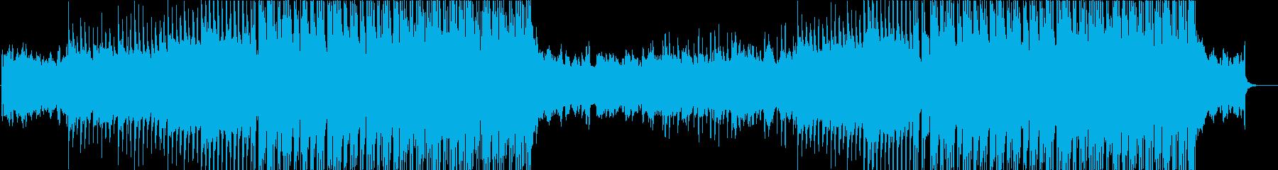 上昇するギターロック、EDM的シンセ展開の再生済みの波形