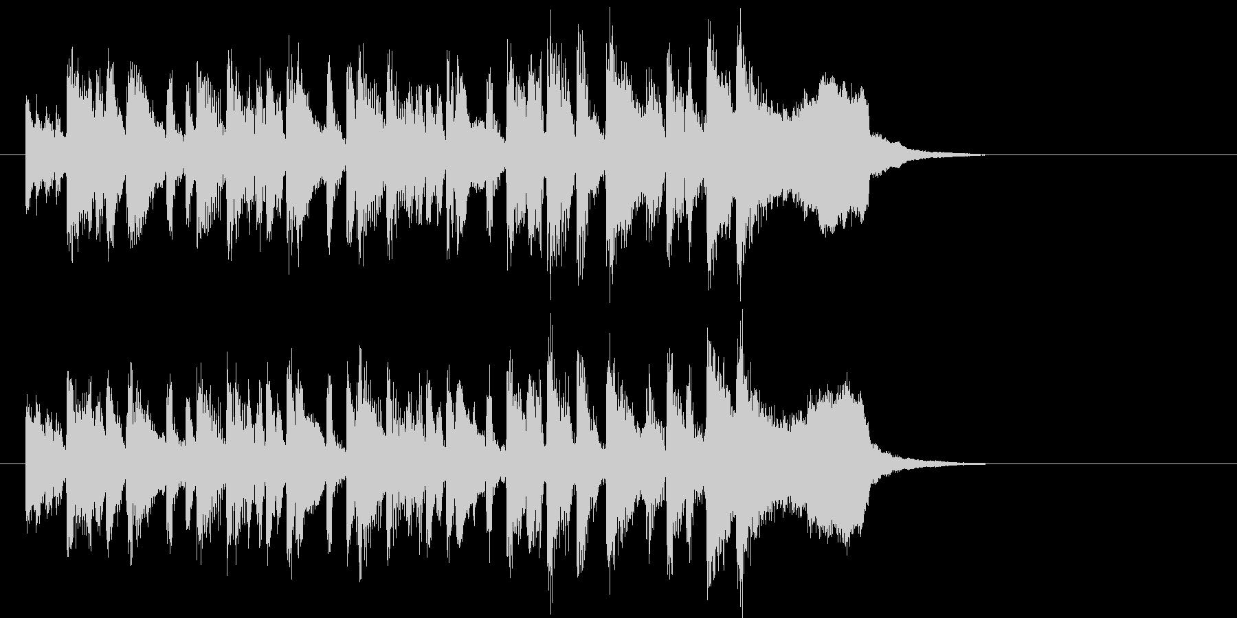 トランペットが軽快なオーケストラの未再生の波形