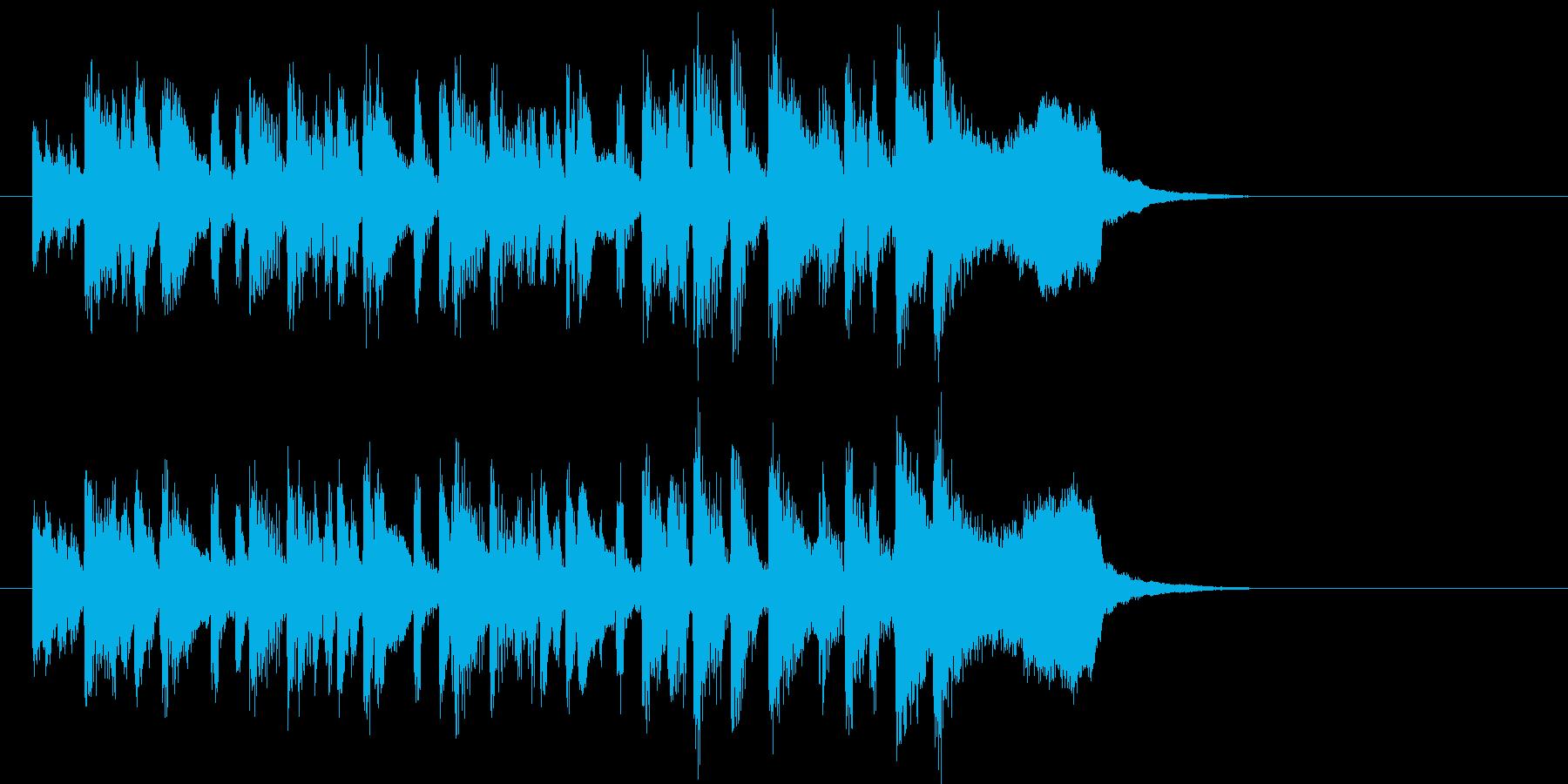 トランペットが軽快なオーケストラの再生済みの波形