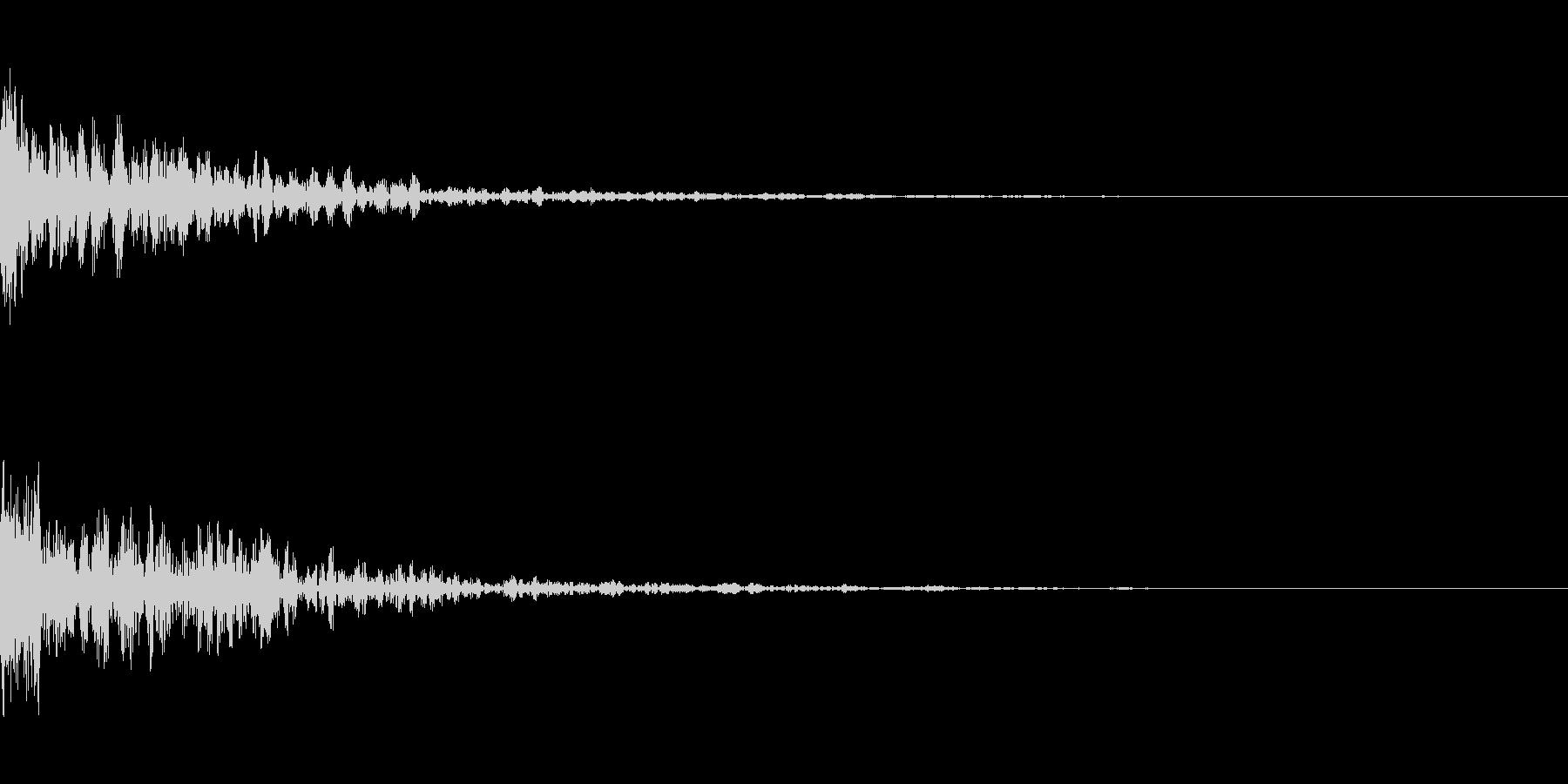 ドーン-30-1(インパクト音)の未再生の波形