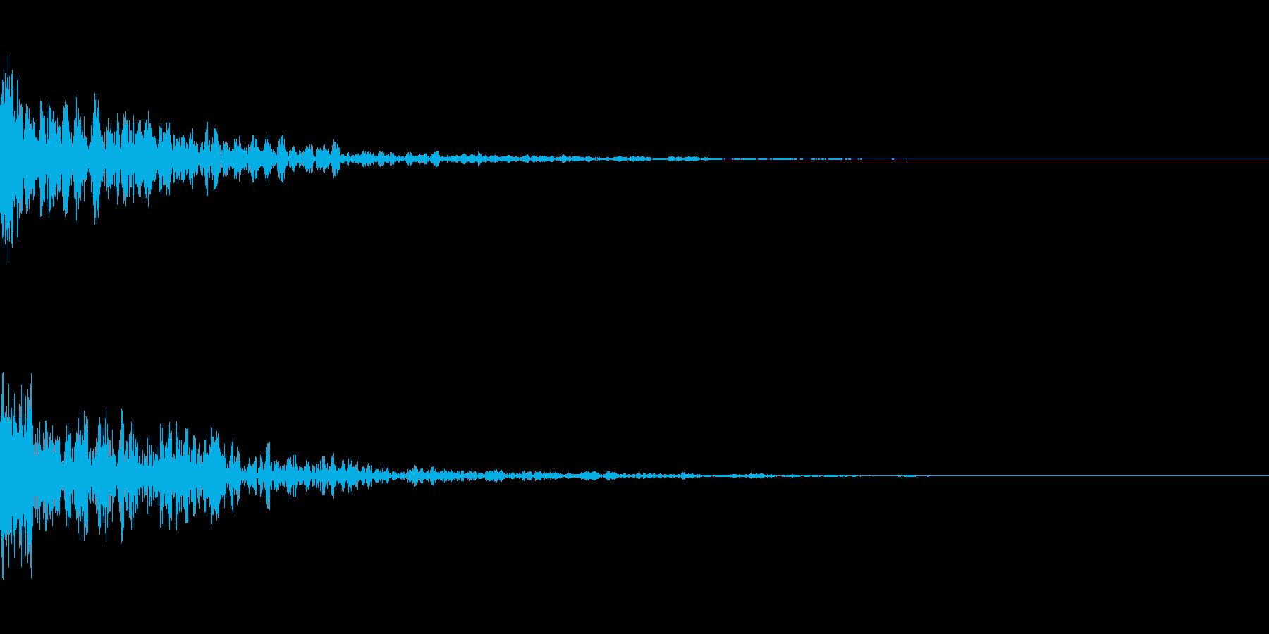 ドーン-30-1(インパクト音)の再生済みの波形