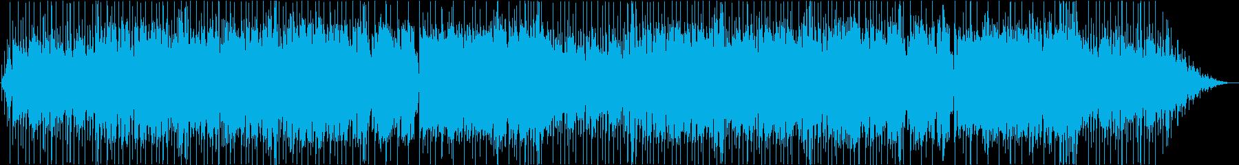 渋めのブルース、ギターとエレピの再生済みの波形