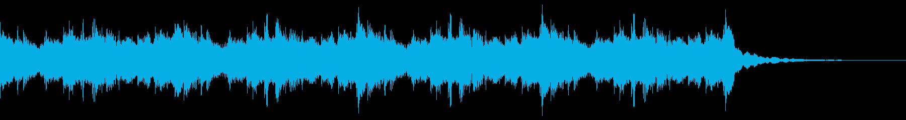 シリアス目の和風BGMの再生済みの波形