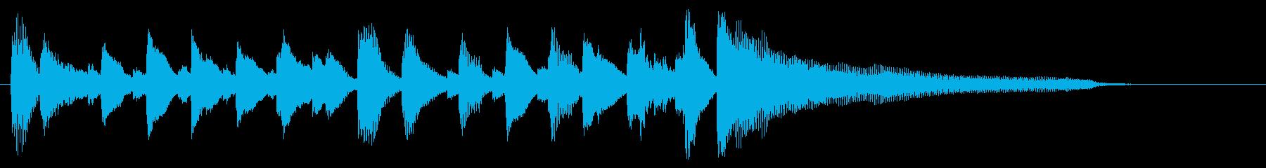 【ピアノのみ】陽気オシャレ!ジャズロゴ!の再生済みの波形