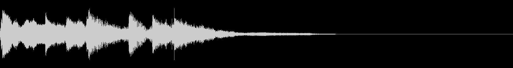 ピアノ 残響  ゆっくりの未再生の波形