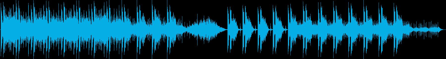 不気味な旋律が特徴的なホラー風BGMの再生済みの波形