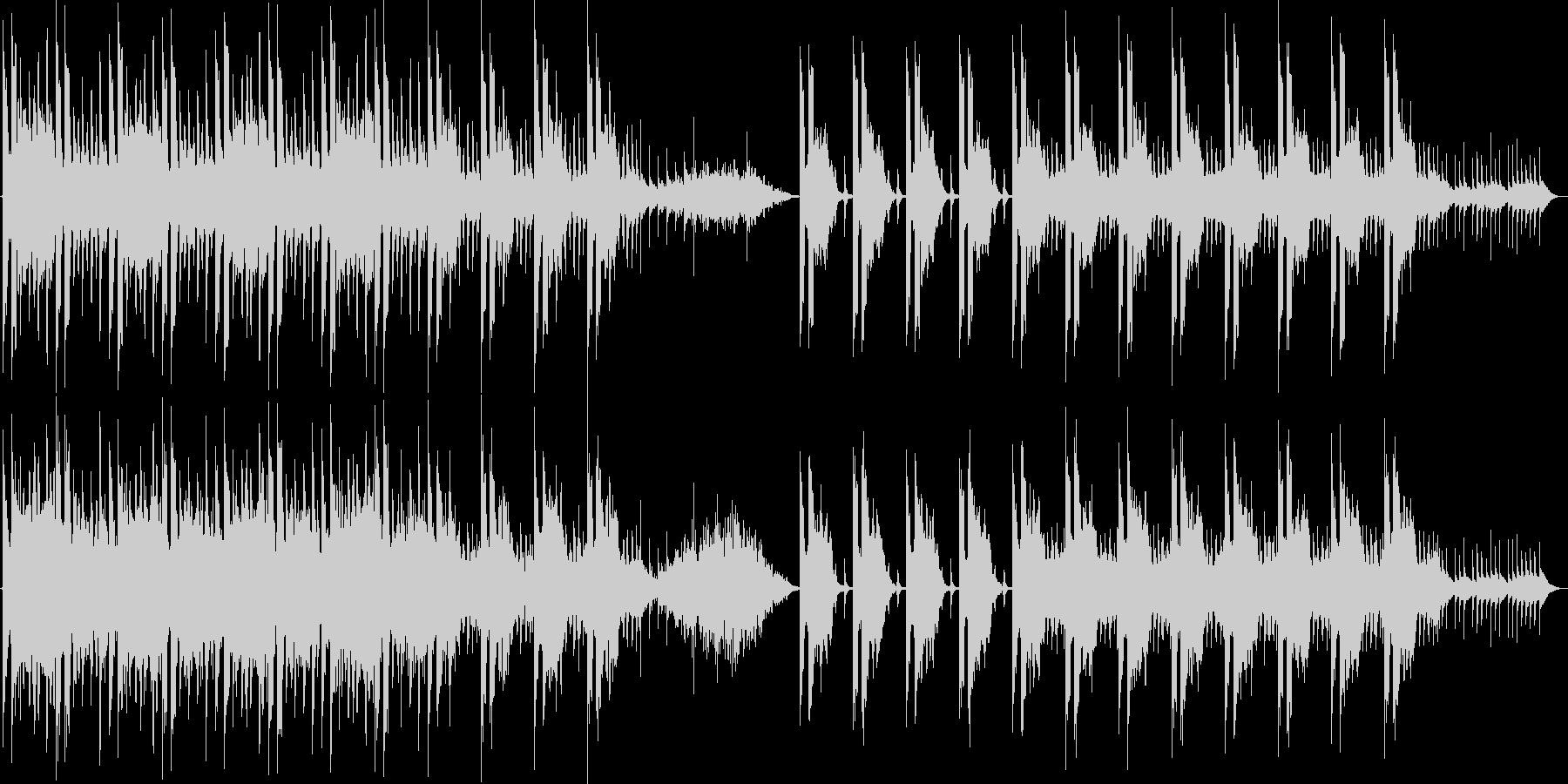不気味な旋律が特徴的なホラー風BGMの未再生の波形