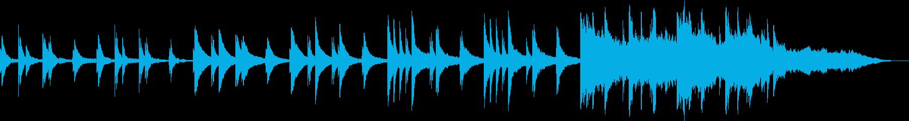 ピアノのゆったりしたバラードの再生済みの波形