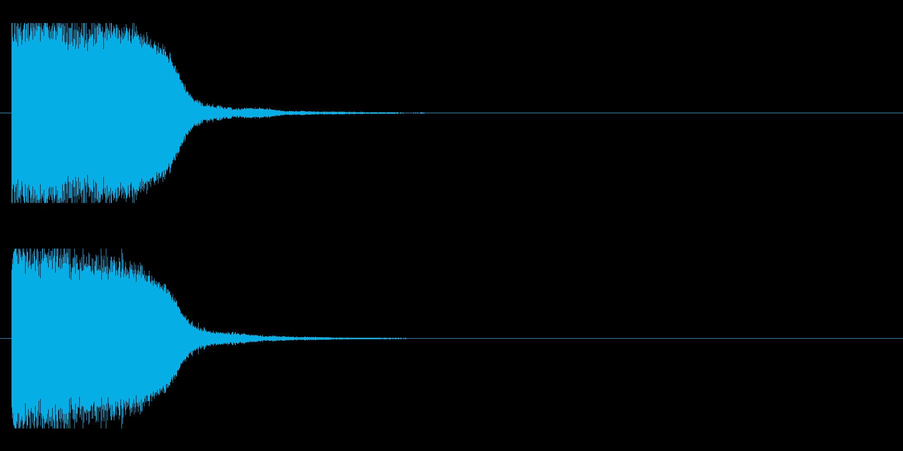 レーザー音-86-1の再生済みの波形
