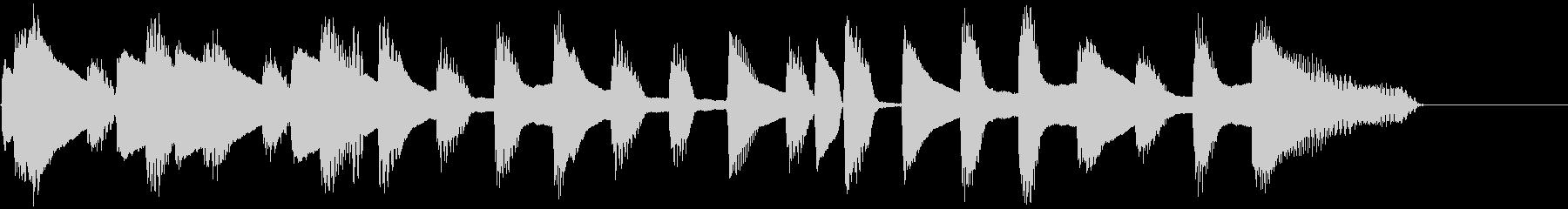 ピアノ・シンプル・ワルツ・クッキングの未再生の波形