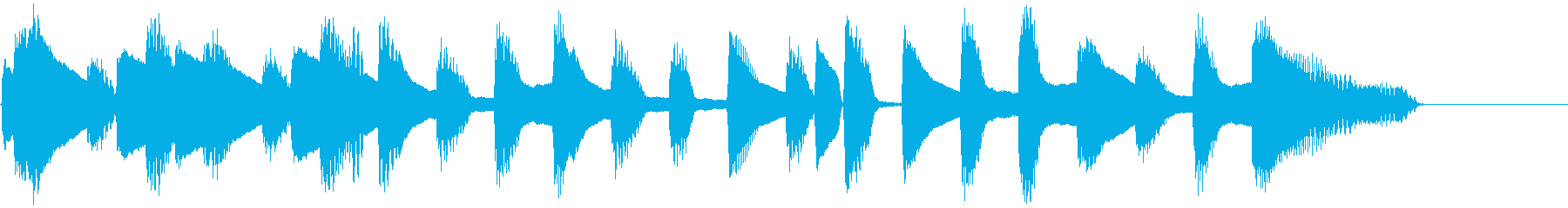 ピアノ・シンプル・ワルツ・クッキングの再生済みの波形