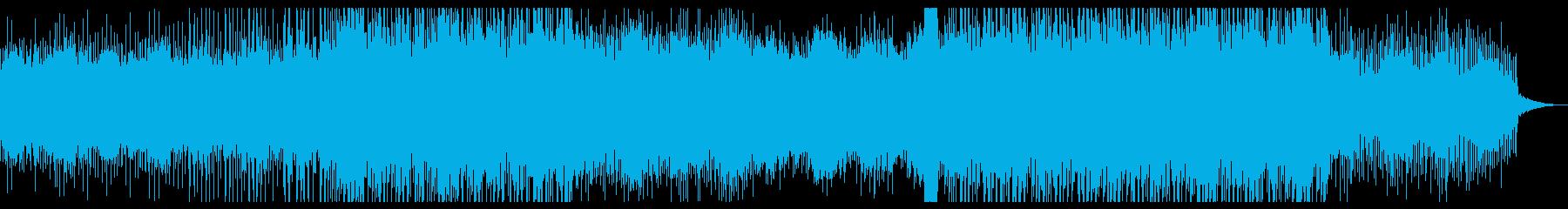 幻想的なドラムンベースの再生済みの波形