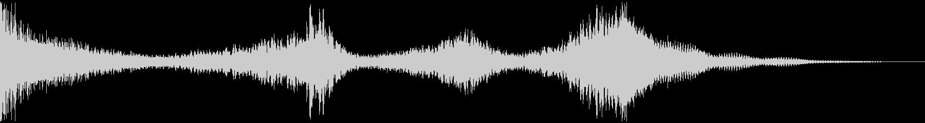 ドラムロールCシンバルまで8秒★結果発表の未再生の波形