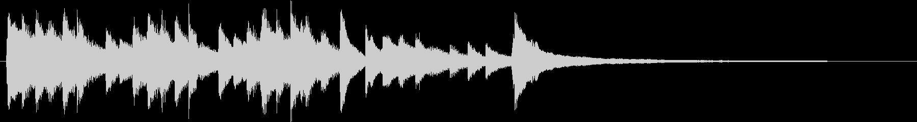 感動・切ない・エモいピアノのサウンドロゴの未再生の波形