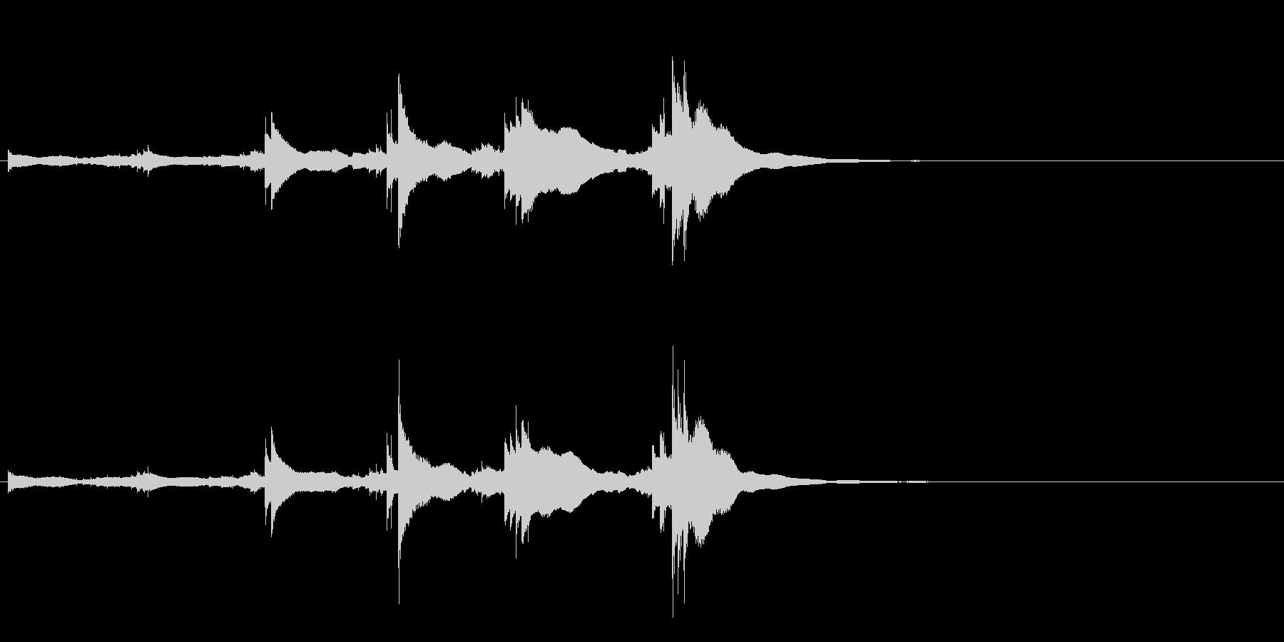 小型の鐘「本つり鐘」のフレーズ音2の未再生の波形