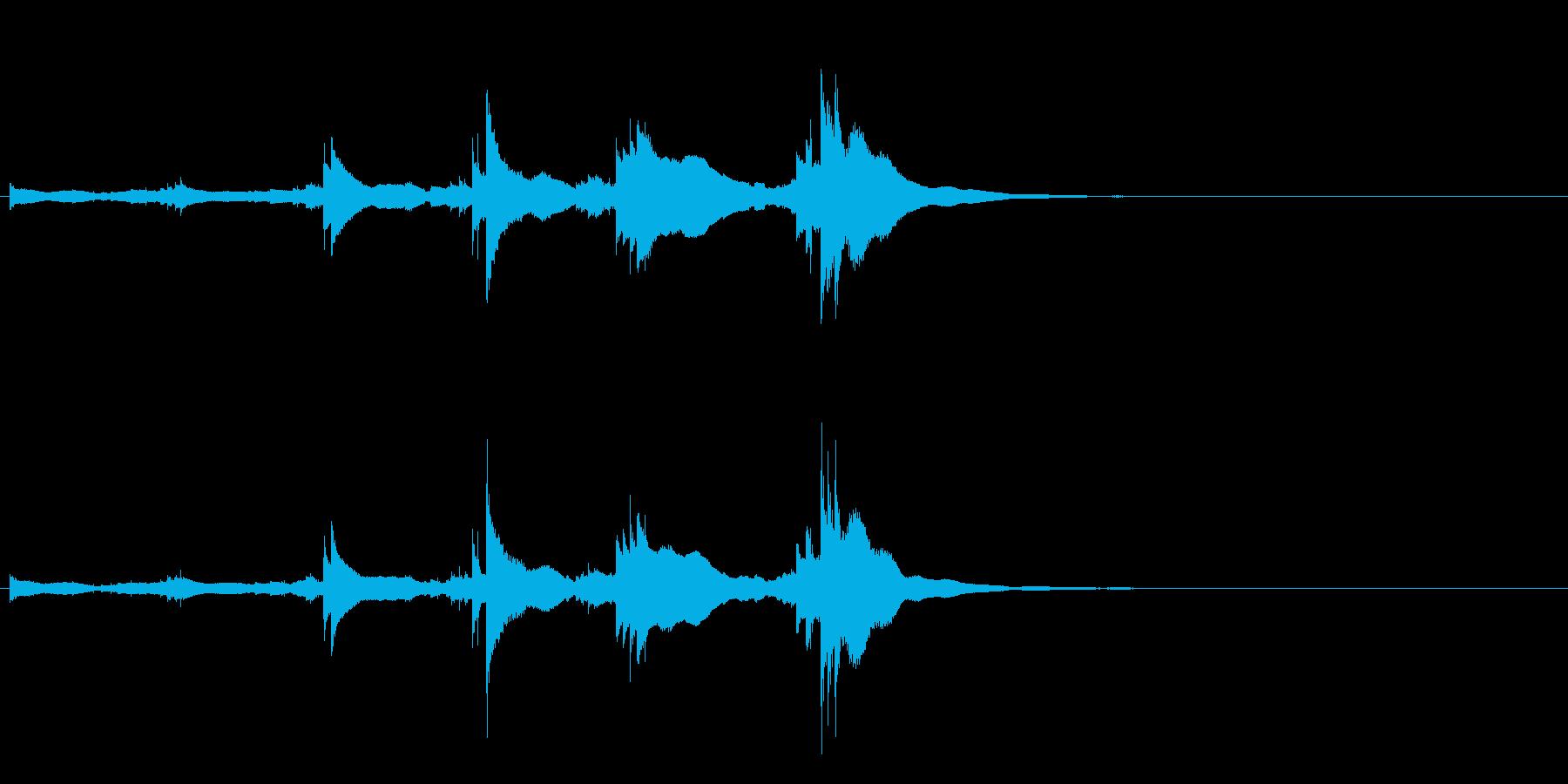 小型の鐘「本つり鐘」のフレーズ音2の再生済みの波形