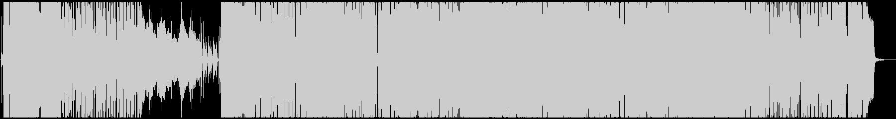 エレクトロとロックの融合の未再生の波形