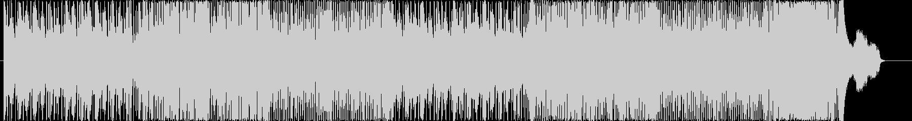 和楽器を使った激しいハイテンションの曲の未再生の波形