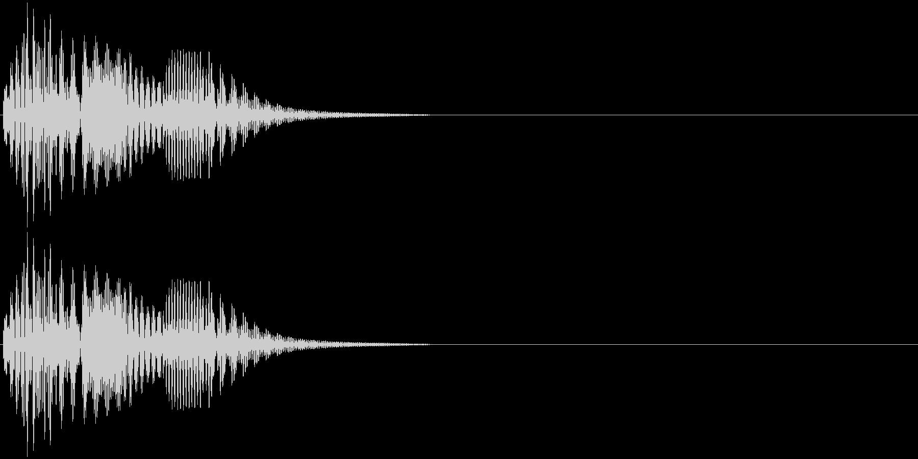 決定・アイテム取得・選択音・ピコンの未再生の波形