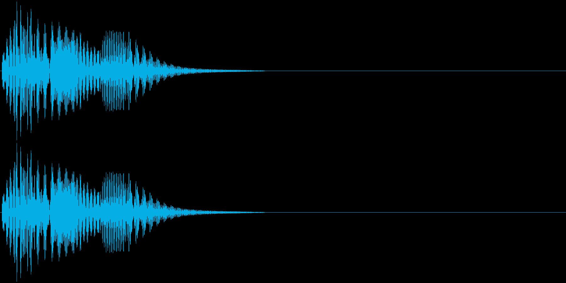 決定・アイテム取得・選択音・ピコンの再生済みの波形