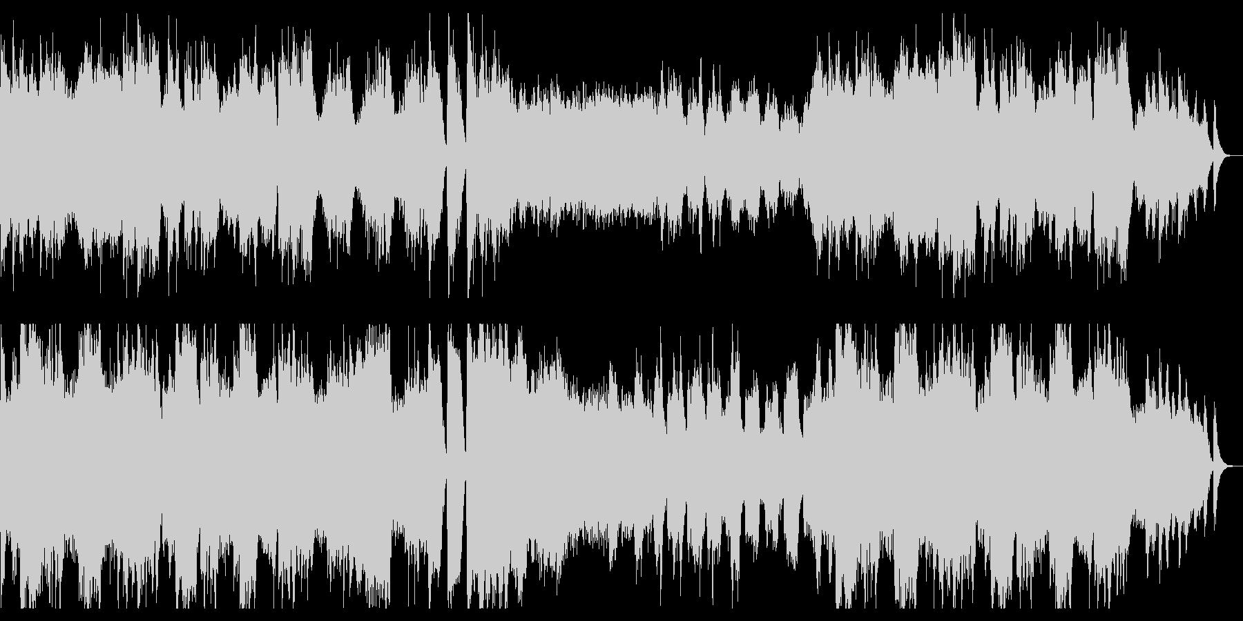 ハープとストリングスの幻想的BGMの未再生の波形