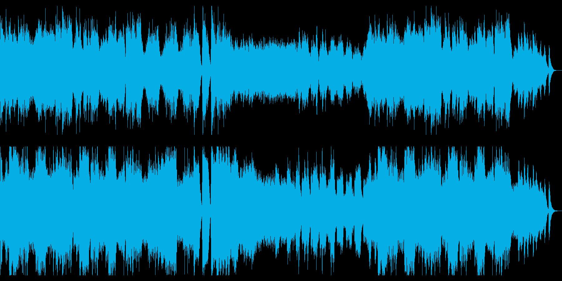 ハープとストリングスの幻想的BGMの再生済みの波形