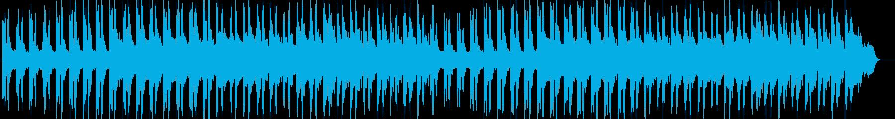 静寂と鼓動を感じさせるテクノ音の再生済みの波形